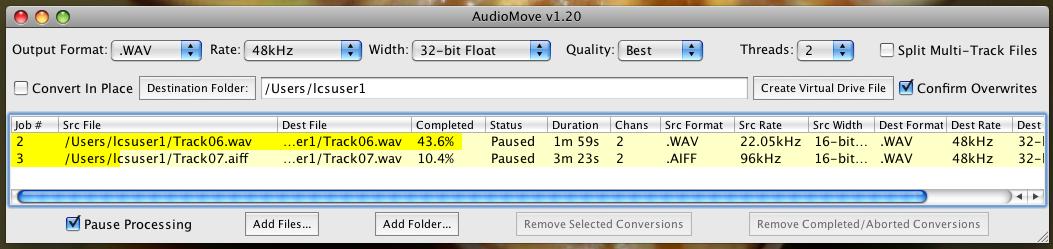 AudioMove full screenshot
